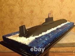 1350 Soviet/Russian Typhoon class submarine complete model with water diorama