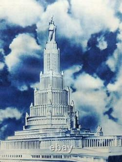 1935 MOSCOW MOSKVA USSR Russian Book STALIN Photos Architecture Soviet Union ART