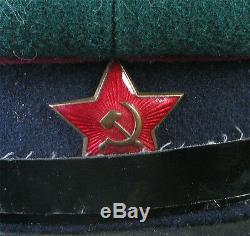 1940 Russian Soviet Ussr Ww2 Nkvd Kgb Borderguard Branch Visor Cap