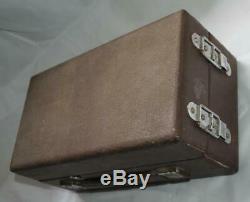 1940's Antique Vintage Soviet Russian Portable Pathephone Phonograph Good Works