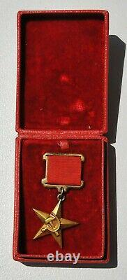 1941y. RUSSIAN HERO GOLD STAR USSR SOVIET MILITARY ORDER MEDAL WWII AWARD BADGE