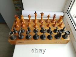 1952 made! Vintage Soviet Chess USSR Russian Wooden Chess