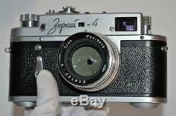 1964 RUSSIAN USSR ZORKI 4 CAMERA + JUPITER-8 LENS, f2/50mm, FULL SET