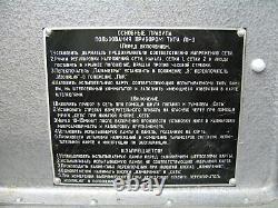 1965 KALIBR L1-3 Russian Soviet Vacuum Tube Tester Military (as L3-3, ex. IL-14)