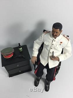 1/6 Soviet Russian Premier Joseph Stalin +chair&table&vodka Dragon DID Bbi Ww2