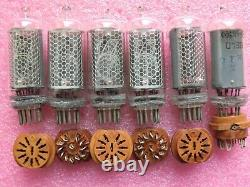6 pcs IN-8 Russian nixie tubes + socket New