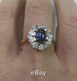 Amazing ring Vintage russian jewelry Soviet USSR style Gold 14K 583