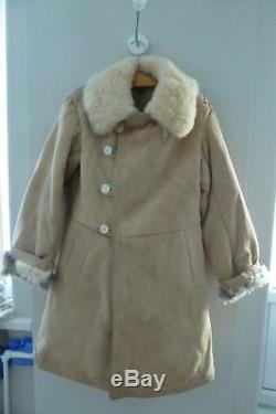 Bekesha Shearling Jacket Russian Army Officer Winter Sheepskin Coat USSR TULUP