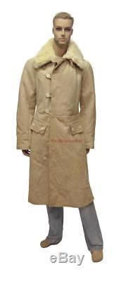 Bekesha Uniform Jacket Russian Army Officer Winter Sheepskin Coat USSR TULUP Fur