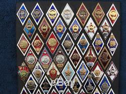 CCCP Soviet Russian Graduate Badge Graduation Pin Medal Order Rhombus Rhomb Romb