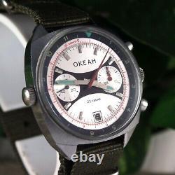 Chronograph OCEAN Poljot Watch Soviet Russian Vintage USSR Sturmanskie Cal 3133