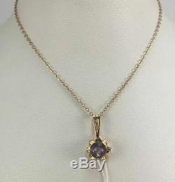 Cute Rare Vintage USSR Russian Soviet Gold 583 14K Pendant ROYAL ALEXANDRITE