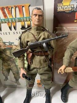 Dragon 1/6 16 WWII Soviet Russian Figure Lot Ultimate Soldier