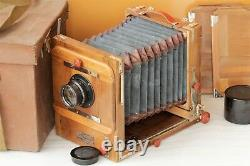 FKD 13x18cm USSR Russian Old Road Wooden Camera + Lens Industar-51 f4,5/210mm