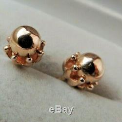 Fantastic Vintage Soviet Russian 583,14k Solid Rose Gold Earrings