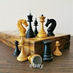 Fastship Middle Classic soviet chess set Wooden Russian Vintage USSR antique