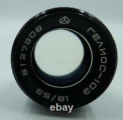 KIEV 4AM BLACK USSR Russian 35 mm Contax copy Camera + Helios-103 lens #8108298