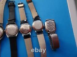 Lot of 9 vintage-Russian-Mechanical-USSR-Wrist-Watch- RAKETA