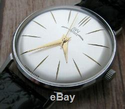 Luch Russian WristWatch De Luxe Original Mechanical USSR Slim Rare Soviet Men's