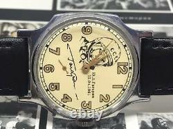 Men's Soviet Watch Pobeda Gagarin Mechanical Russian Wrist Watch USSR