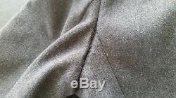 Men's Vtg Gray Wool Russian Soviet USSR Red Army Military WW2 WWII Overcoat Sz-M