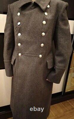 Military Jacket Russian Officer overcoat Winter Soviet Coat Army USSR Shinel