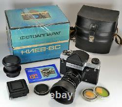 NEAR EXC! EARLY RUSSIAN USSR KIEV-6s (KIEV-6C) MEDIUM FORMAT CAMERA, BOXED SET