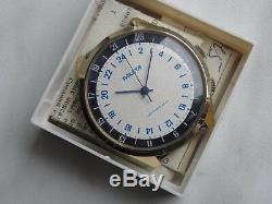 NOS RAKETA Box&Doc 24H indication special marine watch GMT time Soviet Russian