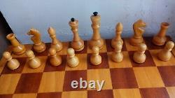Nice Authentic Classic Soviet Big Chess set Wooden Russian Vintage USSR antique