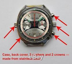 Okean Ocean Vintage USSR Russian Soviet watch Poljot Chronograph 3133 2232