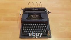 Olympia Robust Field Typewriter WWII Period Germany Russian Keys USSR