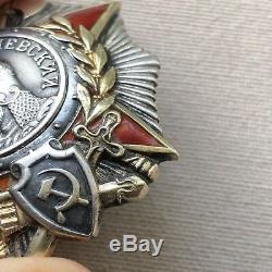 Original Alexander Nevsky Order Soviet Russian Army 1945 Award Ww2 Wwii Military