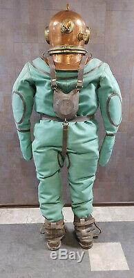 Original Russian Soviet 3-bolt diver's suit. Full-size dummy. USSR MARITIME