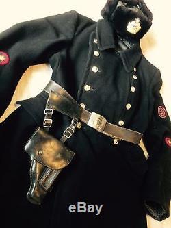 Original Russian Soviet uniform coat arine officer +cap +belt, model 1943 WW-2