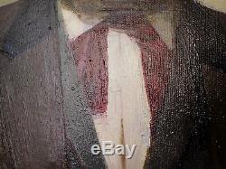 Original Soviet Russian Big Oil painting portrait of Karl Marx p. F. Samusev 1979