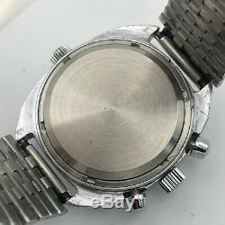 POLJOT CHRONOGRAPH Aviator USSR Russian Men Watch Date 3133 Tachymeter SERVICED