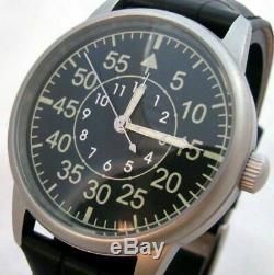 POLJOT Laco Aviator Wrist Watch Mechanical Army Fashion Nice USSR Russian Sovei