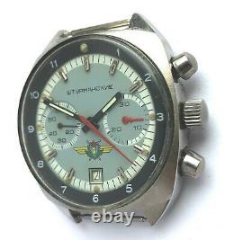 POLJOT STURMANSKIE USSR Russian WATCH Chronograph 31659 Stainless Steel