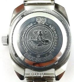 Poljot Amphibia russian automatic watch CCCP stainless steel