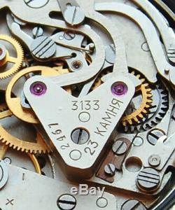 Poljot Vintage USSR Russian Soviet watch Chronograph Sturmanskie 3133 2467