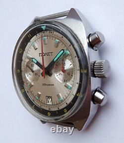 Poljot Vintage USSR Russian Soviet watch Chronograph Sturmanskie 3133 7518