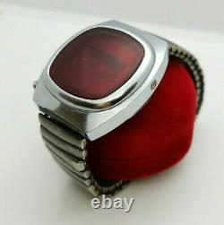 Pulsar Elektronika 1 First Russian USSR Digital Red LED Wrist Watch