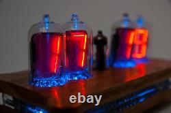 QUEEN Numitron Desk Clock IV-13 Russian Filament Tubes Soviet USSR Nixie Era