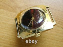 RAKETA RECORD Russian Soviet watch the Dial is made from Natural Stone Jasper