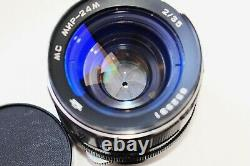 RARE MC MIR-24M 35mm f/2 Wide Angle Soviet Russian SLR lens M42 Full Frame EXC
