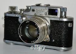 RARE RUSSIAN USSR ZORKI 3 LEICA COPY CAMERA + JUPITER-8 lens, f2/50mm(1)