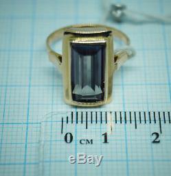 RARE Vintage russian Soviet USSR jewelry ring rose gold 14K 583 S-16,0 Alexandri