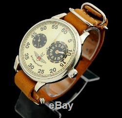 REGULATEUR LARGE VINTAGE STURMANSKIE aviation style Soviet Russian pocket watch