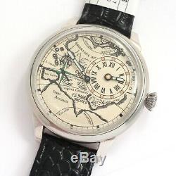 REGULATEUR MOLNIYA ANCIENT MAP vintage Soviet Russian USSR watch REGULATOR