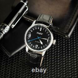 Raketa Watch 24h Mechanical Russian Men's Soviet New Vintage 2623 Rare Wrist